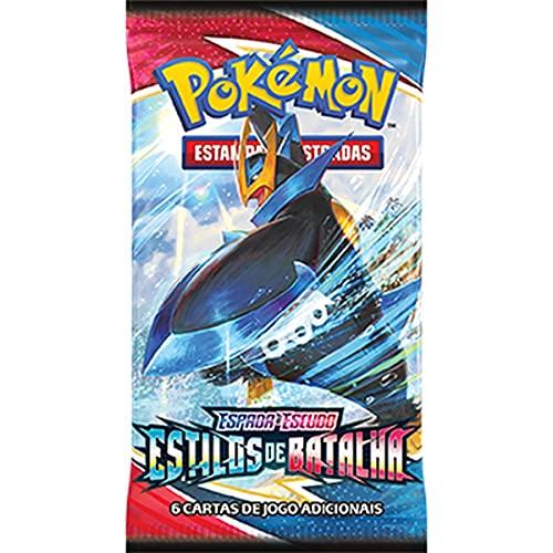 Box 36 Boosters Cards Sortidos Pokémon Espada e Escudo 5 Estilos de Batalha Copag - 88832