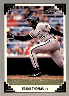 1991 Leaf Baseball Card #281 Frank Thomas