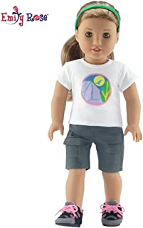 Emily Rose 18 Inch Doll Clothes | Brownie Girl Scout Camping Outfit | Hiking Boots Included! | Fits American Girl Dolls | Gift Boxed!