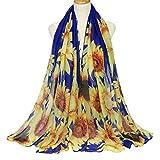 WEILYDF Sunflower Yarn Scarf Fashion Long...