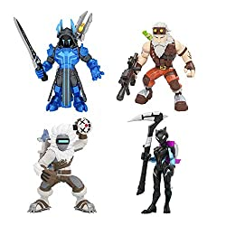 From the gaming and pop culture phenomenon Fortnight, a squad of 4 collectible figure Squad of Four 2 Poseable Fortnight Figures Two-inch poseable action figures with premium detailing Includes 8 Accessories and 4 Display Stands Fan-favourite charact...