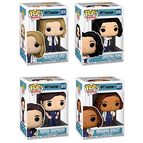 Funko TV: POP! Conjunto de colecionador Grey's Anatomy - Meredith Grey, Derek Shepherd, Dr. Bailey, Cristina Yang