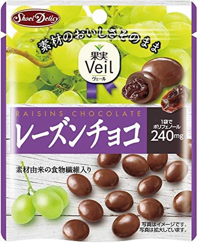 正栄デリシィ 果実Veil レーズンチョコ スタンドパウチ 49g×10袋
