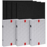 Honeywell HPA300 Replacement Filter Complete Pack – 3 HEPA and 4 Activated Carbon Pre-Cut Pre Filters - Non-Toxic - Compatible with Honeywell Air Purifiers HPA 300, 300C, 304, 8350B, 5300B