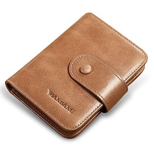 QINJLI Heren gesp tas, rundleer multi-card bestuurder licentie lederen set credit card card jas set 11 * 2 * 8cm A
