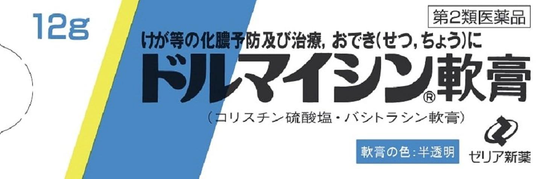 ブラウザメッセージテンポ【第2類医薬品】ドルマイシン軟膏 12g