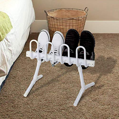 Tangkula Electric Shoe Dryer Free Standing Shoes or Boots Dehumidifier and Hanger Shoe Warmer Dryer Drying Rack (8-Shoe)