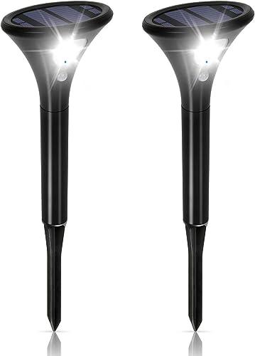 Lampe Solaire Extérieur LED Puissante avec Détecteur de Mouvement 2 Pack, Eclairage Solaire Exterieur Étanche IP65 Sa...