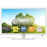 Grunkel - LED-2420B - Televisor de 61 centímetros con Panel HD Ready y Sintonizador TDT Alta Definición T2. Bajo Consumo y Auto-Apagado - 24 Pulgadas - Blanco
