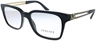 Versace VE 3218 GB1_53 Black Plastic Square Eyeglasses 53mm