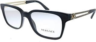 VE 3218 GB1_53 Black Plastic Square Eyeglasses 53mm
