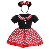 IMEKIS Ragazza Bambina Abito a Pois Neonata Principessa Bowknot Minnie Vestire Fantasia Festa di Compleanno Tutu Costume Cosplay di Carnevale