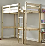 Strictly Beds and Bunks - High Sleeper Loft Bunk Bed, 2ft 6 Single