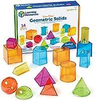 Learning Resources- Formas geométricas Transparentes View-Thru, Color (LER4331)