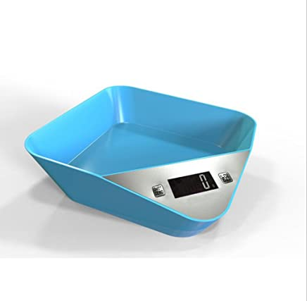 Kitchen Scale 5000g x 1g Digital Scale Kitchen Food Weight Tool Electronic LCD Display (Blue)
