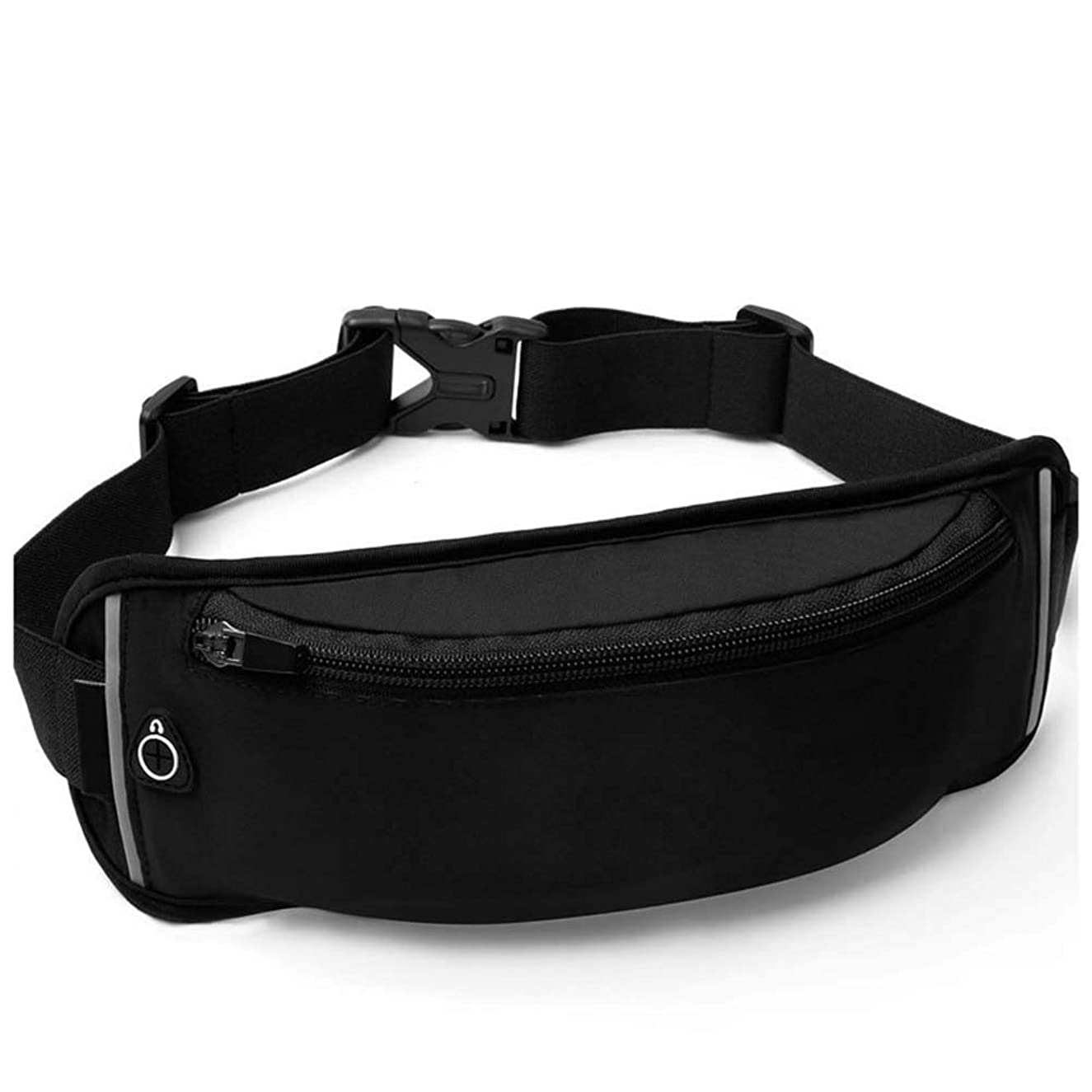 Bum Bag Running Belt Elastic Waist Packs Breathable Cycling Bum Bag with Headphone Hole Walking Great for Carrying Keys Cards Phonebelow 6 Inch