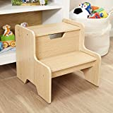 Melissa & Doug 30224 Wooden Step Stool (Espresso, Brown, Great Gift for Girls and Boys - Best for 3, 4, 5 Year Olds and Up)