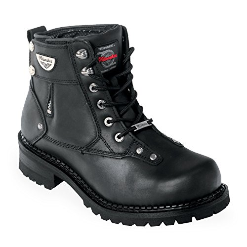 Big Sale Milwaukee Motorcycle Clothing Company Men's Outlaw Motorcycle Boots (Black, Size 9.5EE)