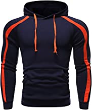 TIANRUN Men Autum Winter Long Sleeve Muscle Slim Fit Workout Hooded Sweatshirt with Pocket Outwear Tops Pullover