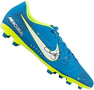 66c4eee32909 Neymar Jr Signed Football Boot - Blue Nike Mercurial NJR Autograph Cleat -  Autographed Soccer Cleats
