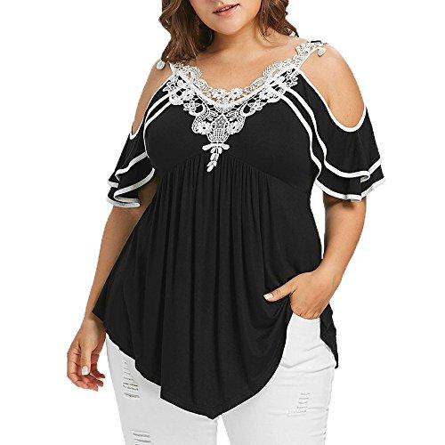 FAMILIZO Blusa Mujer Elegante Camisetas Mujer Manga Corta Algodón Camiseta Mujer Camisetas Mujer Fiesta Camisetas Sin Hombros Mujer Camisetas Mujer Tallas Grandes Camisetas Mujer Verano