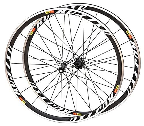 RUJIXU Carbono Juego Ruedas Bicicleta 700C V-Freno QR 38/50mm Carbono Hub Sellado para Velocidad Cojinete 8/9/10/11 Rueda Libre Casete Llanta Bicicleta Rueda Trasera Delantera 1850g