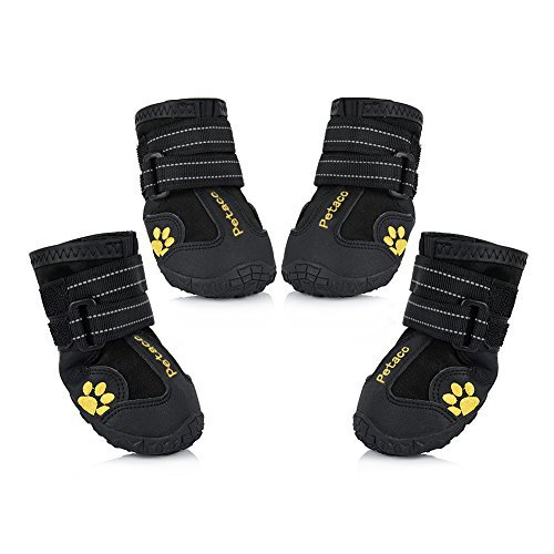 Petacc Dog Boots Water Resistant Dog Shoes for...