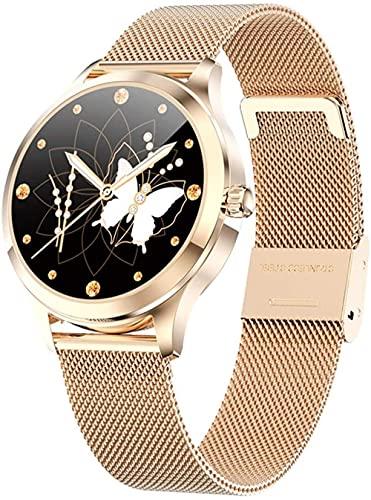 wyingj Reloj inteligente para hombre y mujer, reloj de fitness con calorías escalonadas (color: oro) - dorado