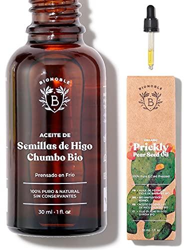 ACEITE DE HIGO CHUMBO ORGÁNICO | 100% Puro, Natural & Prensado en Frío | Cara, Cuerpo, Cabello, Barba, Uñas | Vegano y Cruelty Free | Botella de Vidrio + Pipeta (30ml)