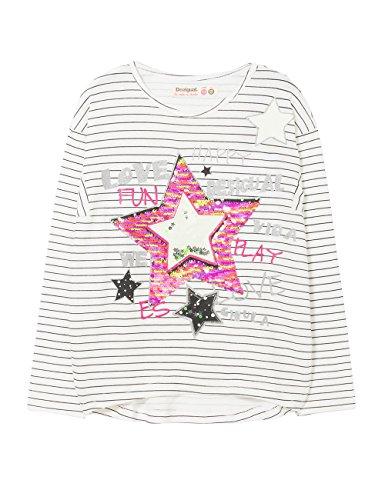 DESIGUAL Desigual Mädchen TS_Utah T-Shirt, Weiß (Blanco 1000), 140 (Herstellergröße: 9/10)
