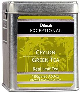 Dilmah Exceptional Ceylon Green Tea Loose Leaf Caddy, 100 Grams