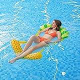 MiiDD Inflable Flotador del Piña,Flotador Hinchable Juguete Flotante Barco Inflación para Piscina,Playa Flotación para Adultos Niños Juguetes(Piña,142*80 cm)