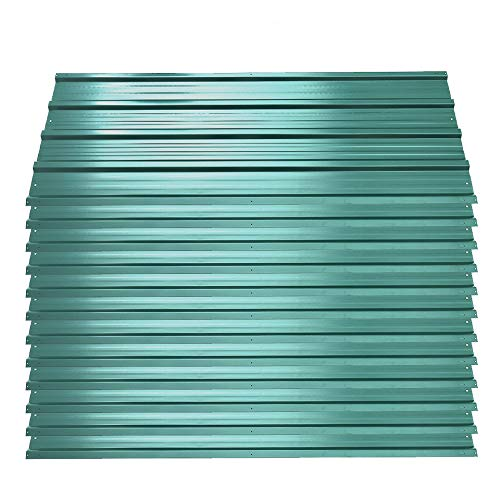 12 PCS Corrugated Roof Sheets Roof Panels Covers for Greenhouses, Sheds, Carports, Huts, Kennels or Garages, Green