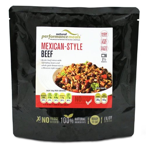 Natural Performance Meals 350g Mexican Style Beef
