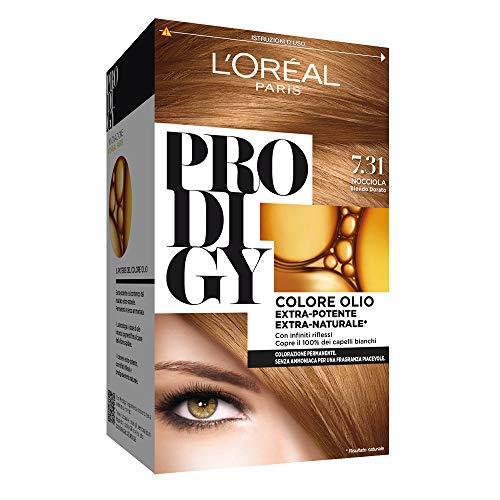 L'Oréal Paris Colorazione Permanente per Capelli Prodigy, 7.31 Nocciola Biondo Dorato