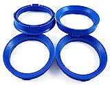 Anelli di centraggio, 4 pezzi, colore: blu, 66,6- 57,1/66,6su 57,1compatibili con CMS, DBV, Proline Wheels, Keskin, MAM