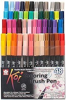 طقم أقلام ريشه ألوان ساكورا كوي 48 لون