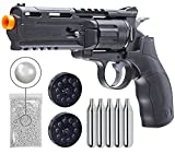 Elite Force H8R Gen2 C02 BB Revolver Airsoft Gun with 5x12 CO2 Tanks and Wearable4U 1000ct BBS Bundle (Airsoft Gun + 2 Extra Mags + CO2 + BBS)