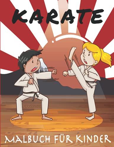 Karate Malbuch für kinder: 30 lustige Designs für Jungen und Mädchen von 3-8 Jahren