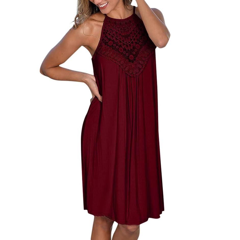 DondPo Women's Sleeveless Beach Dress Solid Halter Neck Mini Casual Summer Ruffle Comfy Swing Boho Sundress Flowy Dresses