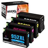 ABOIT Remanufactured Ink Cartridge Replacement for HP 952XL 952 XL Ink to use wtih OfficeJet Pro 8710 8720 7740 8740 7720 8730 8210 8715 8216 8725 8702(Black, Magenta, Cyan, Yellow, 4 Pack)