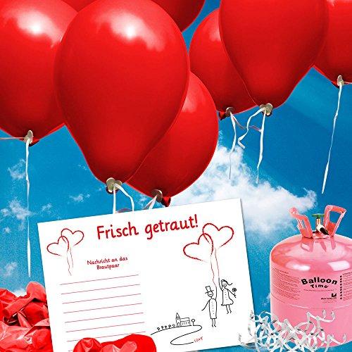 galleryy.net 50 Ballonflugkarten zur Hochzeit GELOCHT - Flugkarten für Hochzeitsballons im Set zum Hochzeitsspiel im Ballonflugkartenset - Hochzeit Luftballon-Hochzeitspaar
