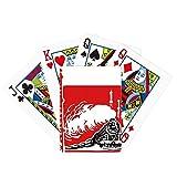 China Train Tower Steam Red Poker Jugando Magic Card Fun Juego de mesa