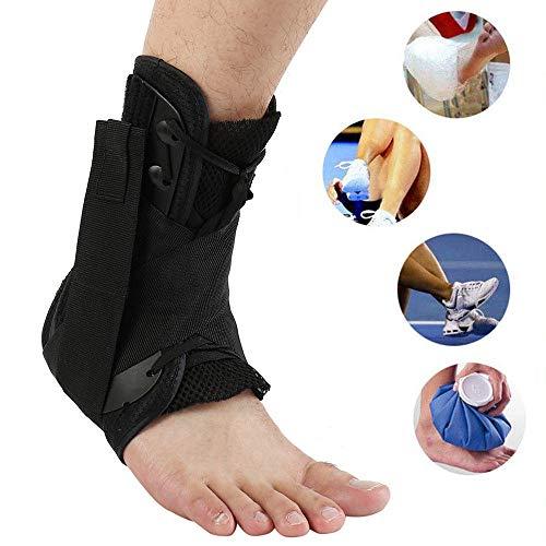 Tobillera Estabilizador con cordones Soporte de la abrazadera Protector protector Seguridad deportiva Esfuerzo del pie Estribo Correa de compresión Velocidad Lacer Fútbol Béisbol Netball Voleibol