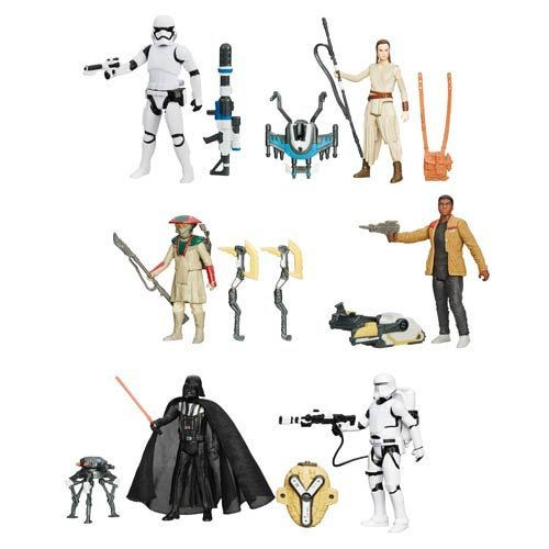 Star Wars: TFA 3 3/4-Inch Snow and Desert Action Figures Wave 1 Set Of 6 image