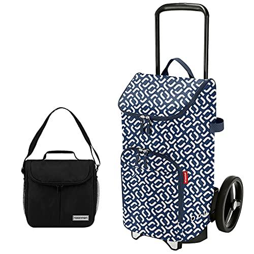 reisenthel citycruiser Rack + citycruiser Bag 45 l Einkaufstrolley - Signature Navy + Mini Kühltasche