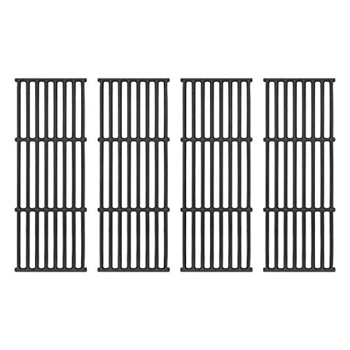 DcYourHome Cooking Grates for Broil King Baron 320, 340, 420, 440, 490, Matte Cast Iron Cooking Grid Replacement for Huntington 2122-64 2122-67 6020-54 6020-57, Broil-Mate Gas Grills 4 Pack