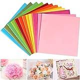 Seidenpapier, 60 Blatt Bunt Transparentpapier Verpackungsmaterial, 12 Farben Bastelpapier zum Verpacken, Pompoms, Papierblumen, Tischdeko, Raffia-Geschenkkorb-Füllpapier