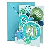Hallmark 21st Birthday Greeting Card (Stamped Circles)