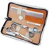ZHAOXQ Tijeras de peluquería Salon Salon Tijeras de Adelgazamiento Tijeras Set de peluquería Profesional del Corte de Pelo de Acero Inoxidable Tijeras de Adelgazamiento Tijeras con Finger Rest Gratis